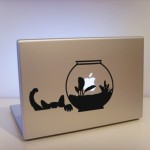 MacBook black & white cover design - Soup von drscream